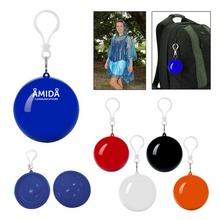 Rain Poncho Ball Key Chain