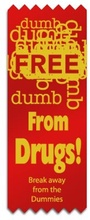 Free From Drugs Red Ribbons