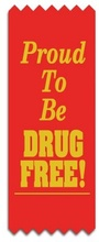 Proud To Be Drug Free Red Ribbons