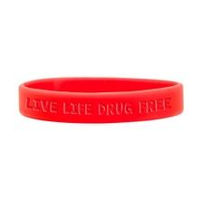 Red Ribbon Week Silicone Bracelets