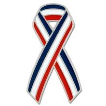 Red, White & Blue Ribbon Lapel Pin