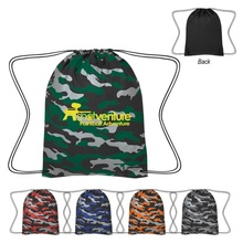 Reflective Camo Drawstring Sports Pack with Imprint