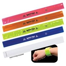 Imprinted Reflective Safety Slap Bracelets