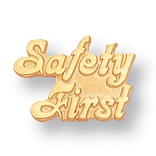 Safety First Gold Lapel Pins