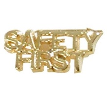 Safety First Lapel Pins