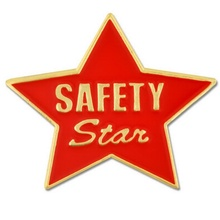 Safety Star Lapel Pin