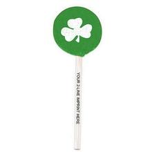 Shamrock Lollipops with Imprinted Sticks
