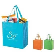 Shiny Laminated Non-Woven Custom Shopper Tote Bags