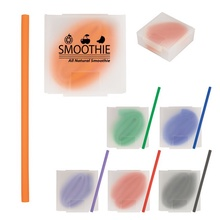 Silicone Straw In Personalized Case