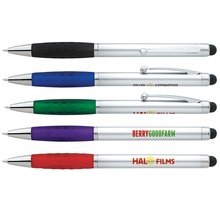 Custom Silver Stylus Grip Pen