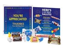 Six Treat Salute Appreciation Goody Bags