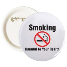 Smoking - Harmful to Your Health Buttons