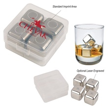 Stainless Steel Ice Cubes in Custom Printed Case