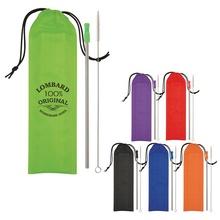 Custom Printed Stainless Steel Straw Kits