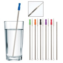 Custom Stainless Steel Straw with Cleaning Brush