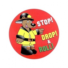 Stop, Drop & Roll Stickers