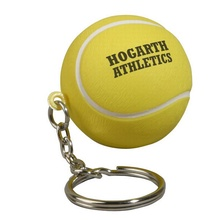 Printed Tennis Ball Stress Reliever Key Chain