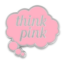 Think Pink Word Bubble Lapel Pin