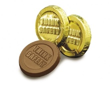 Think Safety Chocolate Gold Coins
