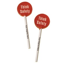 Think Safety Lollipops with Imprinted Sticks