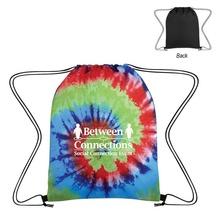 Tie-Dye Logo Drawstring Backpacks
