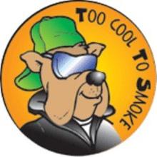 Too Cool To Smoke Stickers