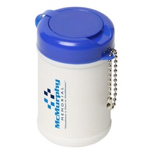Travel Well Sanitizer Wipes in Custom Canister
