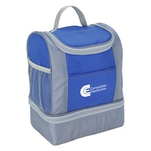 Custom Two-Tone Insulated Deluxe Lunch Bags