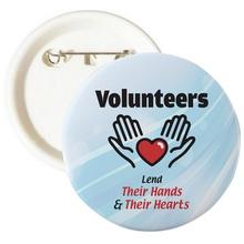 Volunteer Lending Hands & Hearts Buttons