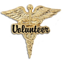 Volunteer Caduceus Lapel Pins