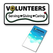 Volunteers Lapel Pin with Gift Card