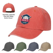 Washed Cotton Dad Cap with Logo Imprint