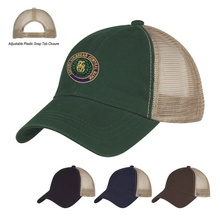 Washed Cotton Mesh Back Custom Baseball Caps