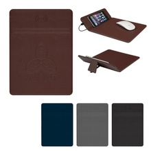Wireless Charging Logo Mouse Pad with Phone Stand