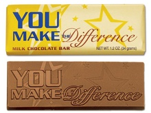 You Make The Difference Chocolate Bar