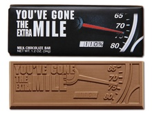 You've Gone The Extra Mile Chocolate Bars