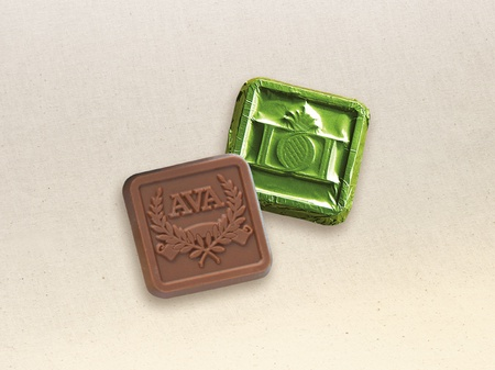 Engraved Chocolate Squares in Foil