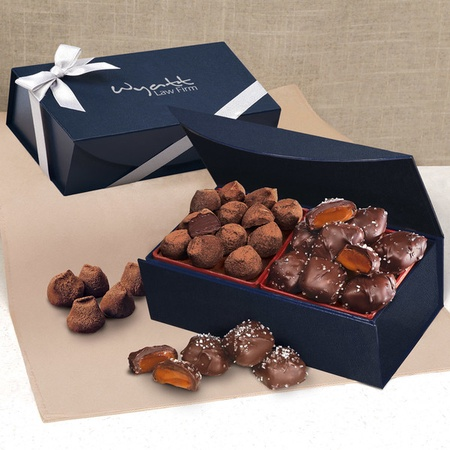 Sea Salt Caramels & Cocoa Dusted Truffles