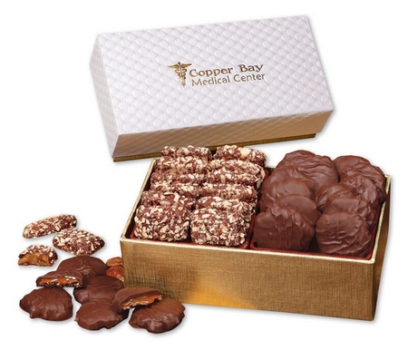 Butter Toffees & Pecan Turtles in Pillow Top Gift Box