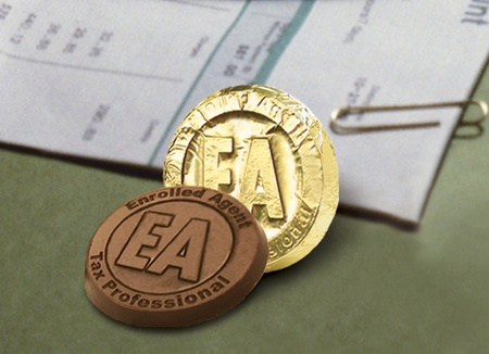 Enrolled Agent Tax Professional Chocolate Coin