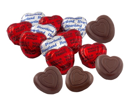 Belgian Chocolate Hearts in Foil Wrappers