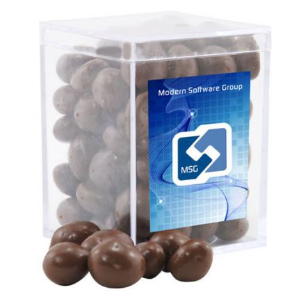 Chocolate Covered Peanuts in Acrylic Box