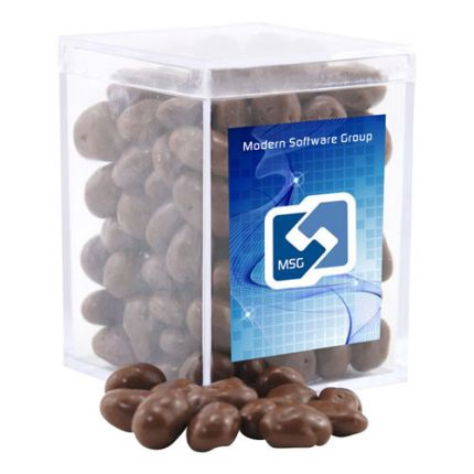 Chocolate Covered Raisins in Acrylic Box