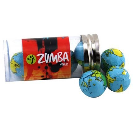Chocolate Globes in Plastic Tube