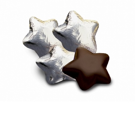 Chocolate Stars in Silver Foil