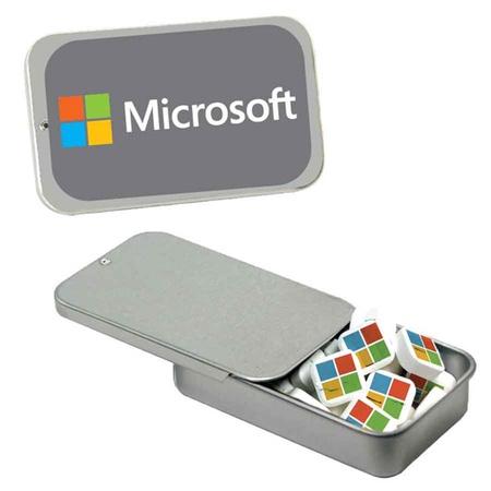 Custom Slider Tin with Custom Printed Mints