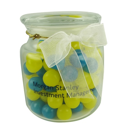 Glass Jar Filled with Sour Balls