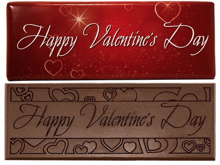 Happy Valentine's Day Dark Chocolate Bar