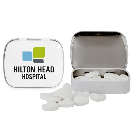 Domed Tin of Heart Shaped Mints