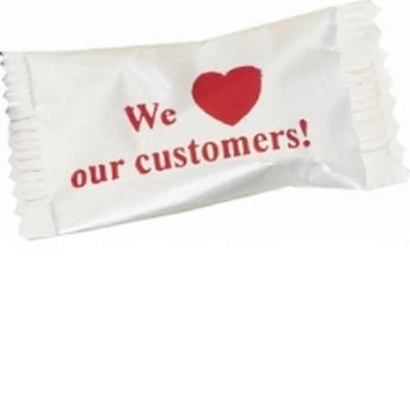 Individually Wrapped We Love Our Customers Candies